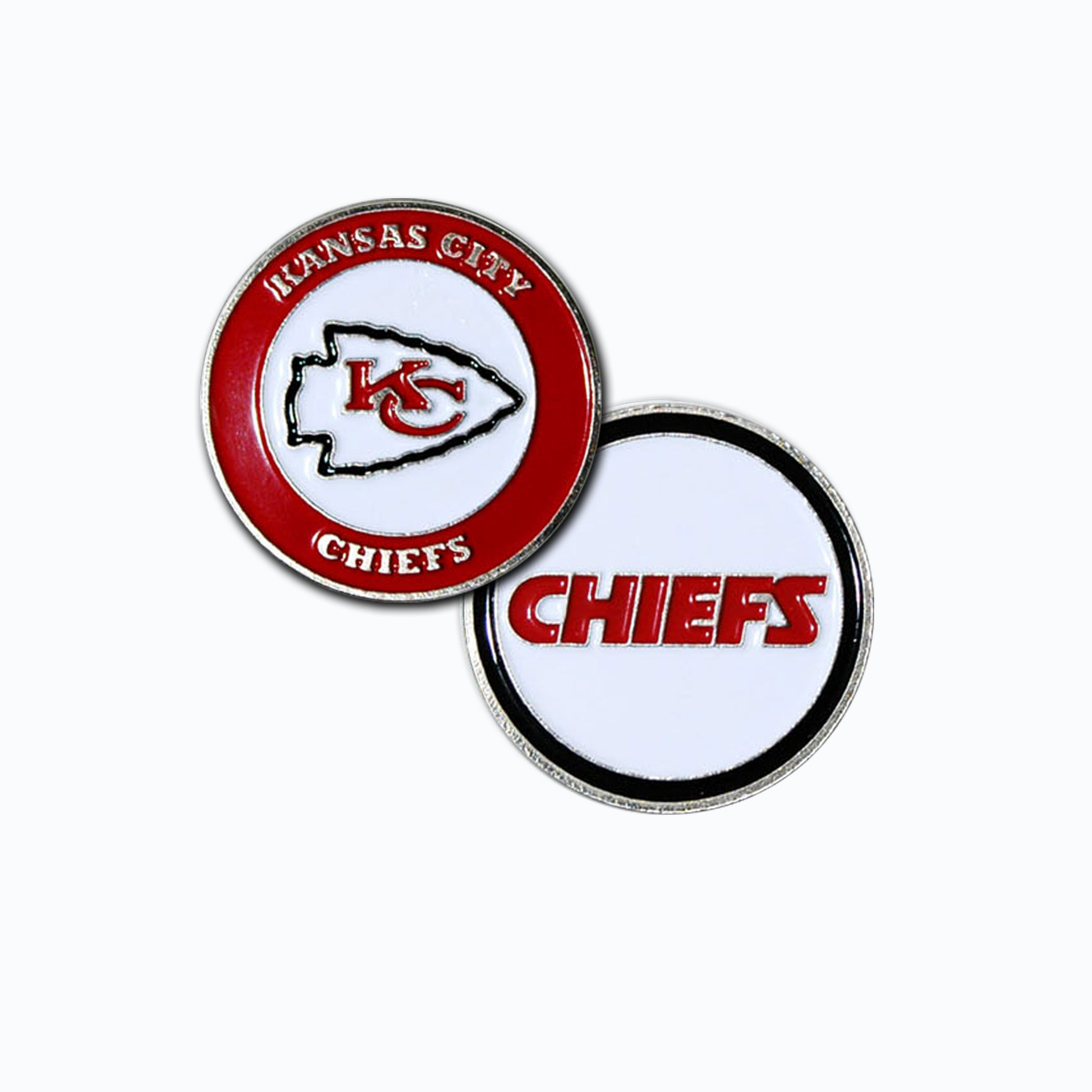 Kansas City Chiefs Double Sided Ball Marker on