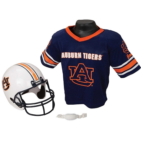 1d5c8ea4090 Auburn Tigers Franklin Sports NCAA Youth Helmet and Jersey Set