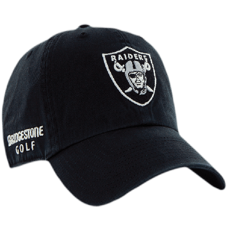 Oakland Raiders NFL Logo Bridgestone Golf Hat   Cap a11e58a8a8b