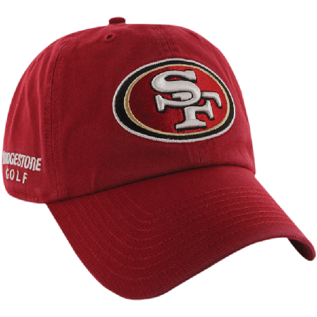 4588e35bc5c San Francisco 49ers NFL Logo Bridgestone Golf Hat   Cap