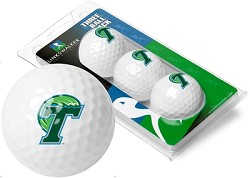 Tulane Green Wave Golf Ball Sleeve of 3