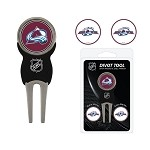 Colorado Avalanche Divot Tool Set of 3 Markers
