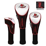 Louisville Cardinals Nylon Graphite Golf Set of 3 Headcovers