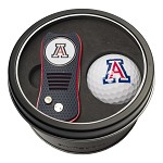 ARIZONA WILDCATS SWITCH DIVOT TOOL AND GOLF BALL GIFT TIN