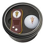 ARIZONA STATE SUN DEVILS SWITCH DIVOT TOOL AND GOLF BALL GIFT TIN