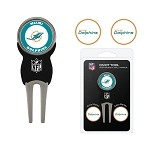 Miami Dolphins Divot Tool Set of 3 Markers