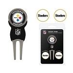 Pittsburgh Steelers Divot Tool Set of 3 Markers