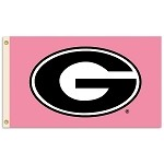 Georgia Bulldogs 3 Ft. X 5 Ft. Flag W/Grommets - Pink Design