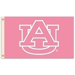 Auburn Tigers 3 Ft. X 5 Ft. Flag W/Grommets - Pink Design