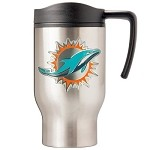 Miami Dolphins Stainless Steel Travel Mugs