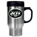 New York Jets Stainless Steel Travel Mugs