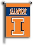 Illinois Fighting Illini Double Sided Garden Flags
