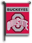 Ohio State Buckeyes Double Sided Garden Flags