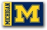 Michigan Wolverines 3x5 Double Sided Flags