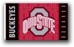 Ohio State Buckeyes 3x5 Double Sided Flags