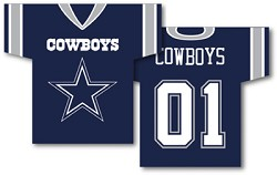 "Dallas Cowboys 34"" X 30"" Jersey Banners"