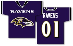 "Baltimore Ravens 34"" X 30"" Jersey Banners"