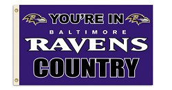 Baltimore Ravens 3'x5' Country Flag