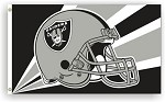 Oakland Raiders NFL 3'x5' Helmet Flag