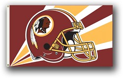 Washington Redskins NFL 3'x5' Helmet Flag