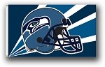 Seattle Seahawks NFL 3'x5' Helmet Flag