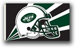 New York Jets NFL 3'x5' Helmet Flag