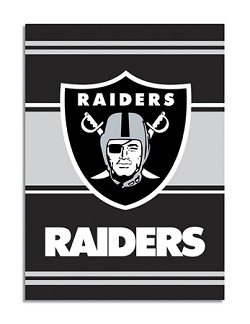 "Oakland Raiders Double Sided 28""x40"" House Banner"