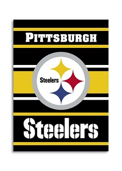 "Pittsburgh Steelers Double Sided 28""x40"" House Banner"