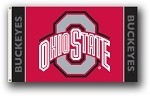 Ohio State Buckeyes 3x5 Single Sided Flags