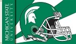 Michigan State Spartans 3 Ft. X 5 Ft. Flag W/Grommets - Helmet Design
