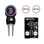 Boston Red Sox Divot Tool Set of 3 Markers