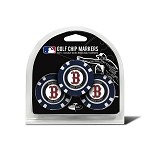 Boston Red Sox MLB Poker Chip Golf Gift Set