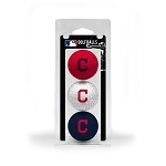 Cleveland Indians 3 Ball Clamshell