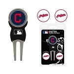 Cleveland Indians Divot Tool Set of 3 Markers
