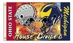 Michigan Wolverines vs. Ohio State Buckeyes 3x5 House Divided Flag