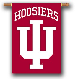 Indiana Hoosiers Double Sided Outdoor Hanging Banner