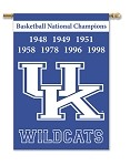 Kentucky Wildcats Champion Years Banner