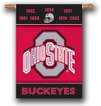 Ohio State Buckeyes Champion Years Banner