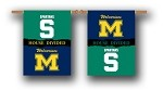 Michigan - Michigan St. House Divided Banner Flag