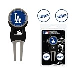 Los Angeles Dodgers Divot Tool Set of 3 Markers