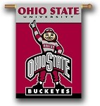 Ohio State Buckeyes Double Sided Outdoor Hanging Banner