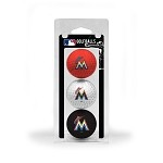 Miami Marlins 3 Ball Clamshell