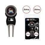 Miami Marlins Divot Tool Set of 3 Markers