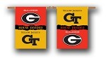 Georgia - Ga. Tech House Divided Banner Flag
