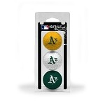 Oakland Athletics 3 Ball Clamshell