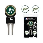 Oakland Athletics Divot Tool Set of 3 Markers