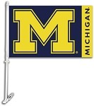 Michigan Wolverines Car Flags