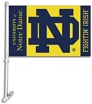 Notre Dame Fighting Irish Car Flags