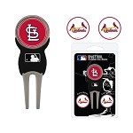 St. Louis Cardinals Divot Tool Set of 3 Markers