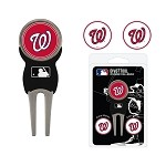 Washington Nationals Divot Tool Set of 3 Markers